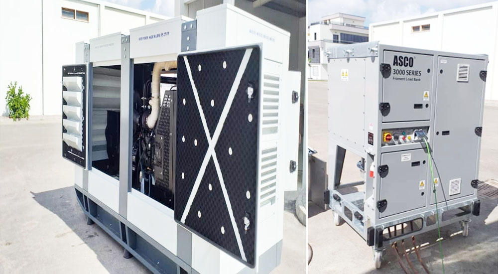 Testing of Generator  250-275 KVA by ASCO Load Bank Device 3000 Series