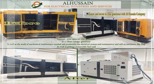 Renew and invest your generator with Al Hussain Company
